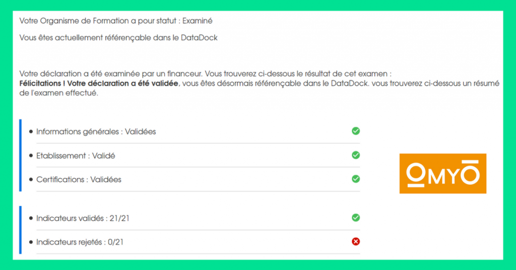 Déclaration Datadock